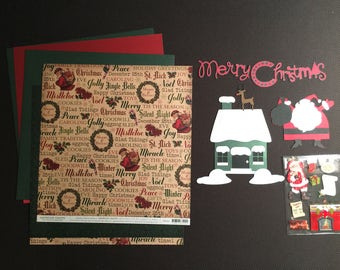 Santa and Rudolph Scrapbooking Kit