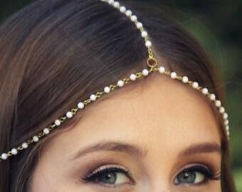 CHAIN HEADPIECE- chain headpiece / head chain / boho chic