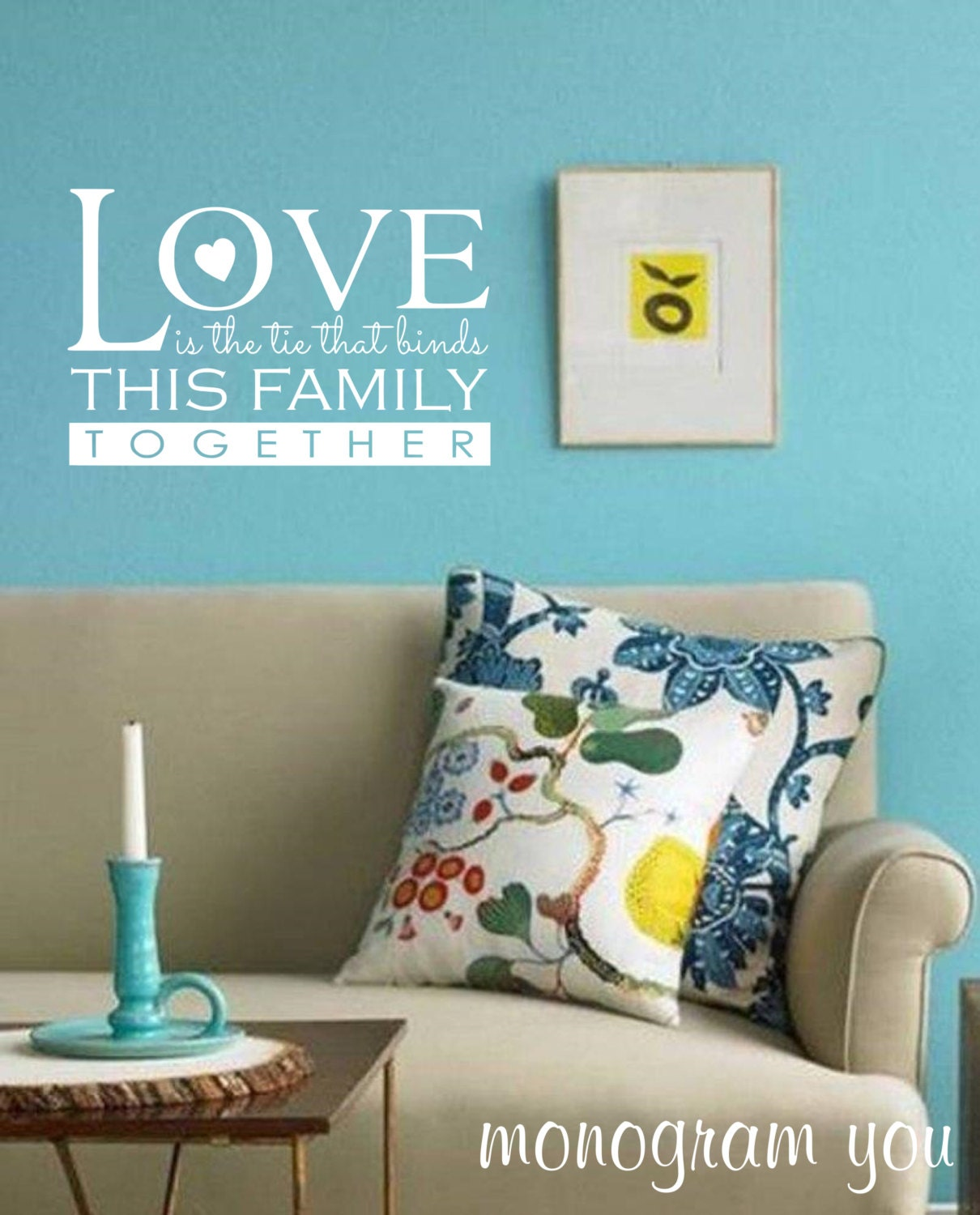 Family Wall Decal 'Love Is The Tie That Binds This Family