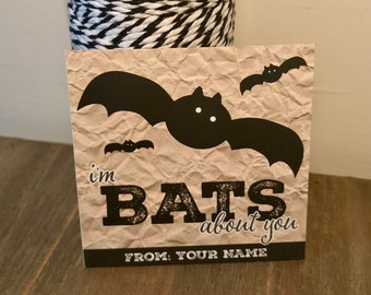 INSTANT DOWNLOAD - I'm Bats About You Tag