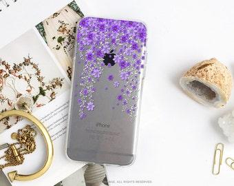 iPhone 8 Case iPhone X Case iPhone 7 Case Floral Clear GRIP Rubber Case iPhone 7 Plus Clear Case iPhone SE Case Samsung S8 Plus Case U29B