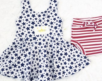 Stars and Stripes Tunic and Shorties Set by Wee Kings