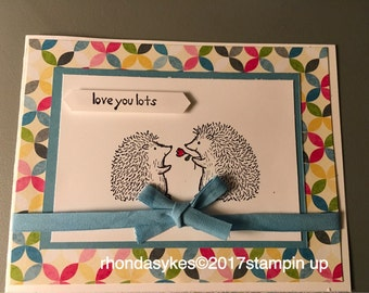 Handmade Stampin up Love you lots card