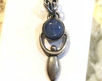 Kyanite Goddess/Mother Earth Pendant Necklace