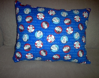 Handmade Pillow Made Using President Obama Fabric