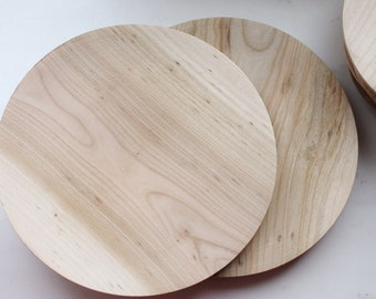 Wooden plate 18 cm 7.2 inch unfinished natural eco friendly