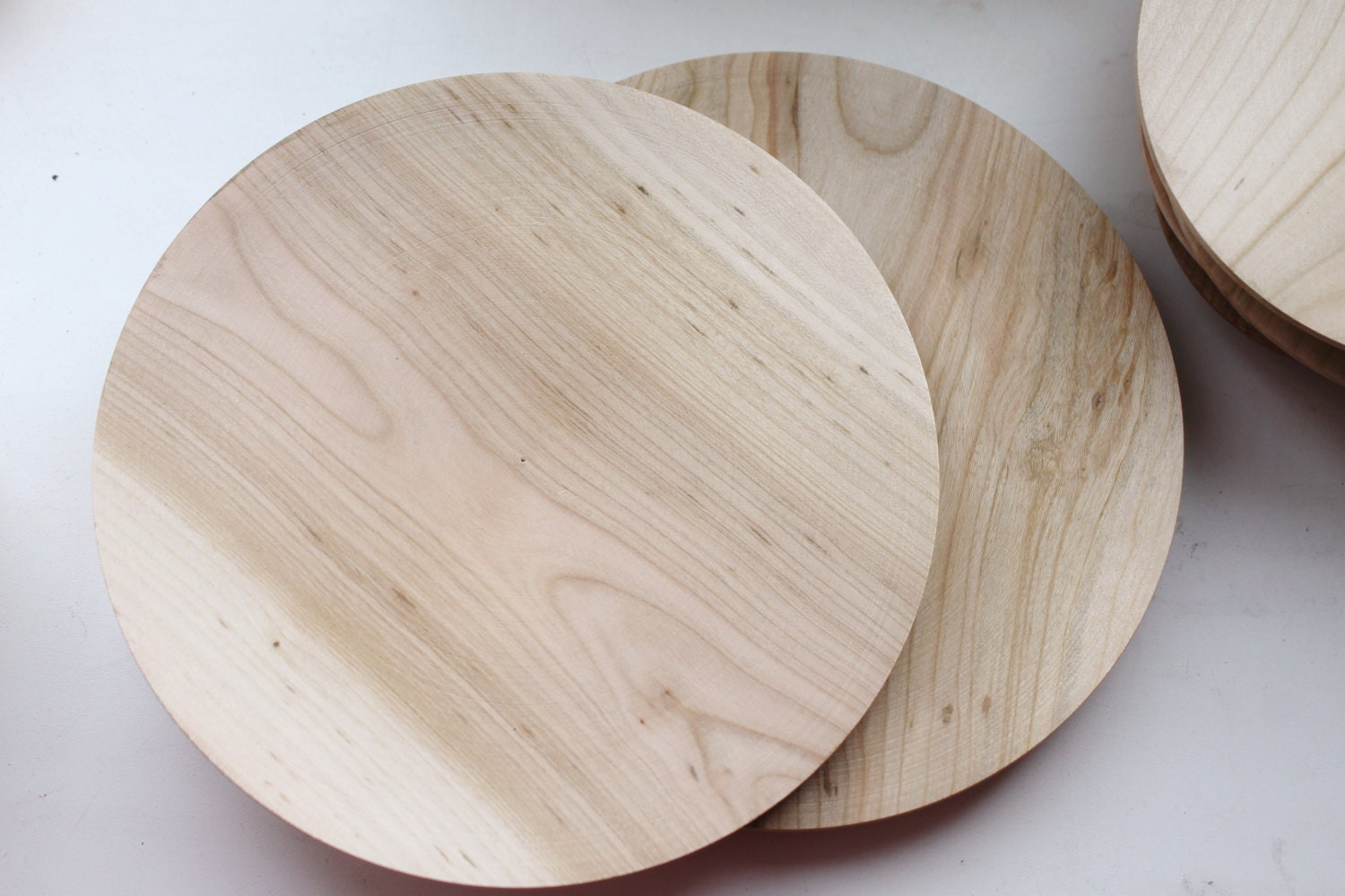 & Wooden plate 18 cm 7.2 inch unfinished natural eco friendly