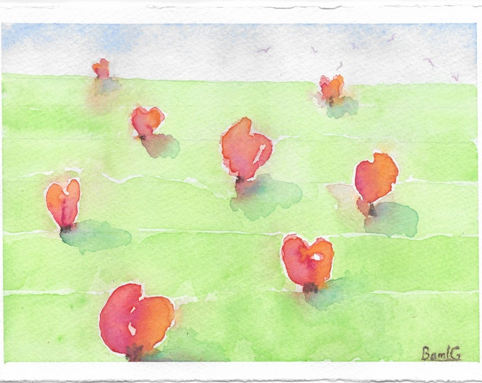"""Notecards of """"Growing Hearts"""" painting"""