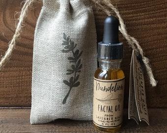 Dandelion Facial Oil- Facial Serum- .5 oz.