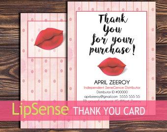 LipSense Loyalty Card, LipSense Thank You, LipSense Rewards, Lips Thank You, LipSense Business, Lip Loyalty, LipSense Marketing, SeneGence