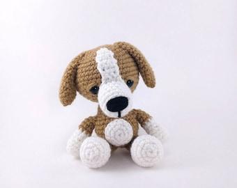 PATTERN: Danny the Dog - Crochet dog pattern - amigurumi puppy pattern - crochet beagle pattern - crocheted beagle  - PDF crochet pattern