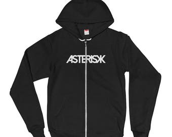 Asterisk Zip Up Hoodie