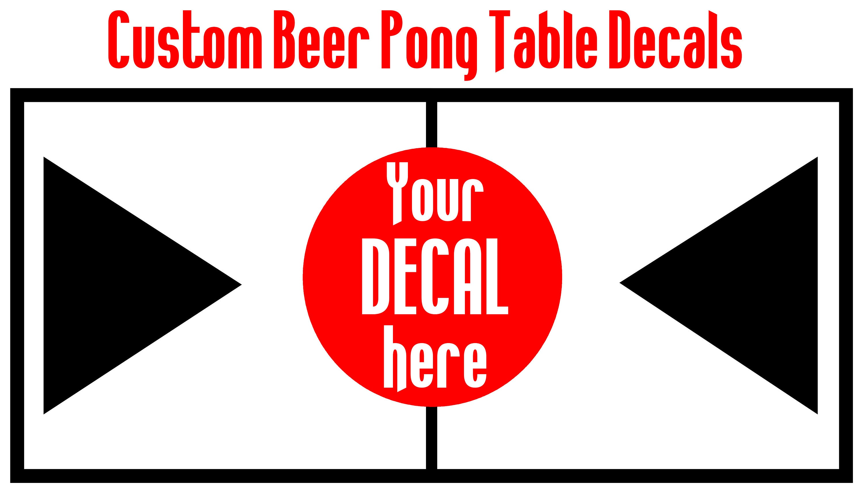 Custom Beer Pong Table Decals Beer Pong Table Designs - Custom vinyl decals for beer pong tables