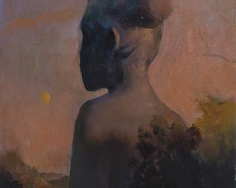 "Monolith II   Original oil painting on panel, 11""x14"""