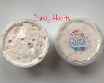 Candy hearts thick slime 5oz