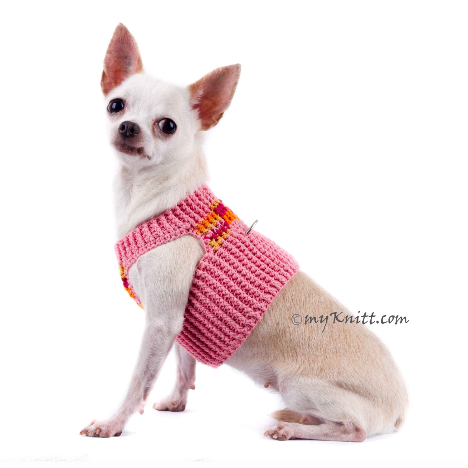 chihuahua collars peach dog harness pink chihuahua collars cotton handmade 7617