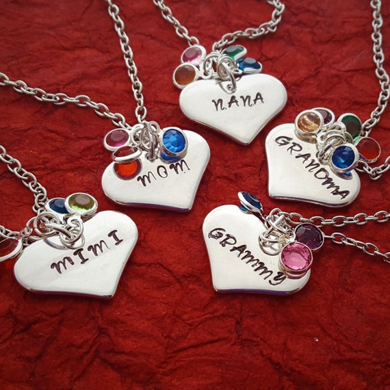 Customized Gift for NANA, Personalized Charm Necklace for Oma Mimi, Custom Birthstone Jewelry for Grandma Grammy, Gifts for New Mom Wife