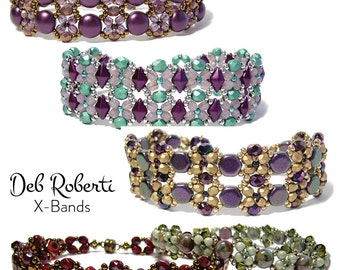 X-Bands beaded pattern tutorial by Deb Roberti