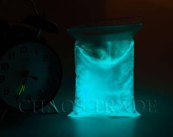 3,52oz - 100g aqua-blue glow in the dark powder luminescent pigment