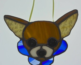 Chihuahua Stained Glass