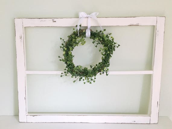 White Wooden Rustic Window Frame // Vintage Inspired Home
