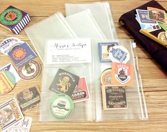 TN PVC Zip Pouch,Card Holder, Midori Travelers Notebook ,Fauxdori,  Personal, Passport size ,PVC Pocket inserts,Zip folder