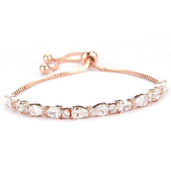 rose gold bracelet rose gold wedding jewelry bridal