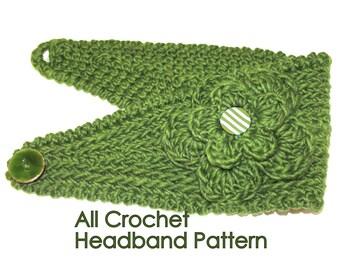 PATTERN - Fast Crochet Headband Kayla Bulky Weight Yarn Two Sizes