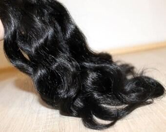 Doll hair (black) doll hair mohair Mohair doll Mohair wig Mohair doll hair goat locks natural mohair for dolls, bjd, blythe, reborn