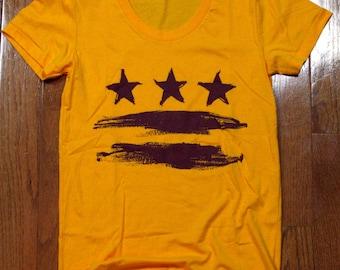 Large - Washington DC Flag Shirt - Women's