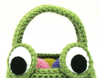 Frog Easter Basket Crochet Pattern Trick or Treat Basket PDF INSTANT DOWNLOAD