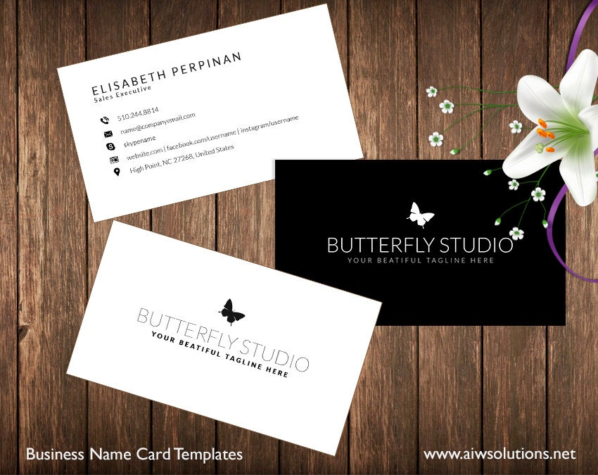 Simple Business Card Template Name Card Template Photography