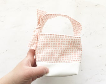 Mini Easter Bucket, Mini Storage Bucket, Fabric Basket, hanging basket
