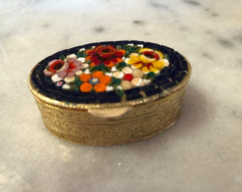 """Tiny Treasure Pill Box""""No one is too old for fairytales""""Got it at The Plastic Flamingo Flower Power Functional Fun Need it, Gotta Have it!"""