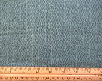 Flannel Teal Herringbone Design - 1/3 Yard    F-1/3-6