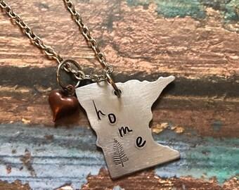 Minnesota Home Necklace