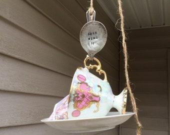 Teacup Bird Feeder
