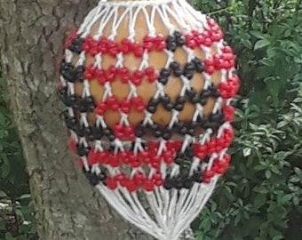 Axatse (medium-small Ewe-style netted gourd rattle)  FREE DOMESTIC SHIPPING