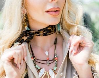 UNIQUE Handmade Tribal Necklace, SAFARI, Boho, Shell, Coral, Festival, Bone, Statement, Sexy, Ethnic, Native (Amazon Empress Necklace)