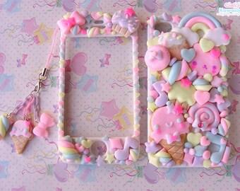 Kawaii Decoden Case - Sweet Cookies Friend case  - Super cute kawaii full body front back case iphone 5 6 7 8 X galaxy s3/s6/s7/S8/S9 PLUS