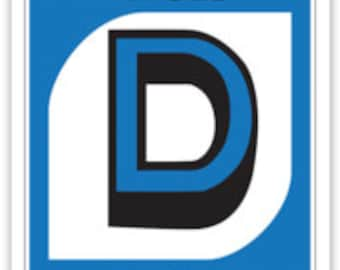Detroit Uno Card Sticker