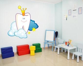 Teeth wall decal tooth wall decal pediatric dentist dental clinic wall decal Orthodontist wall decal Dentist Office Wall Decor kcik1521