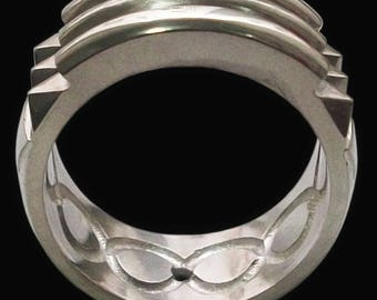 Atlante ring handmade silver .925