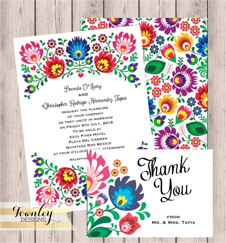 Floral folk fiesta wedding invitation fiesta wedding zoom stopboris Images