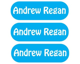 Back to School Labels - 115 Iron on Labels - Personalized Children's Clothing Labels -
