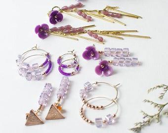 Moon_Clock Crystal Earrings (3color)