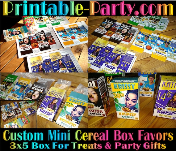 Printable Custom Mini Cereal Box Custom Favor Boxes