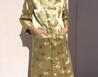 Vintage 100% Silk Brocade Chinese Jacket
