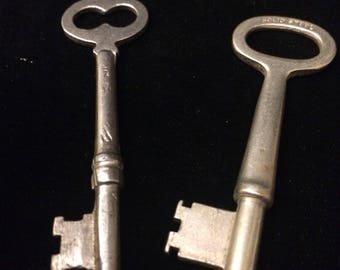 Corbin M16 Key. Yale and Towne Key. Solid Steel. Antique Pair of Keys.