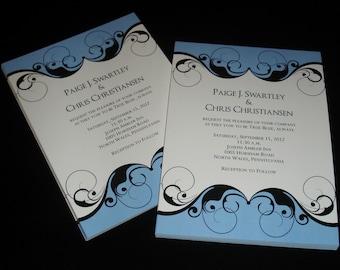 Royal Swirls - Wedding Invitations